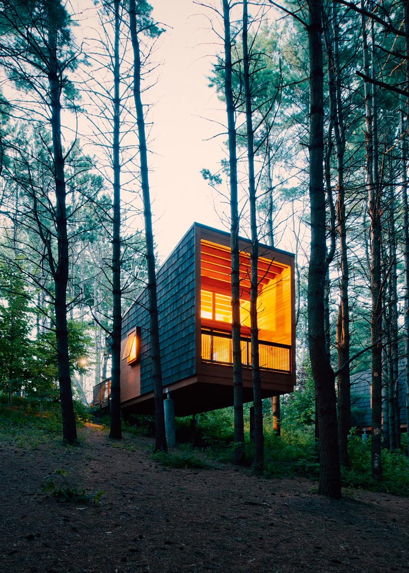 Camper cabin in Whitetail Woods architecture