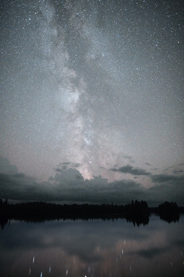 Milky Way over the Boundary Waters landscape
