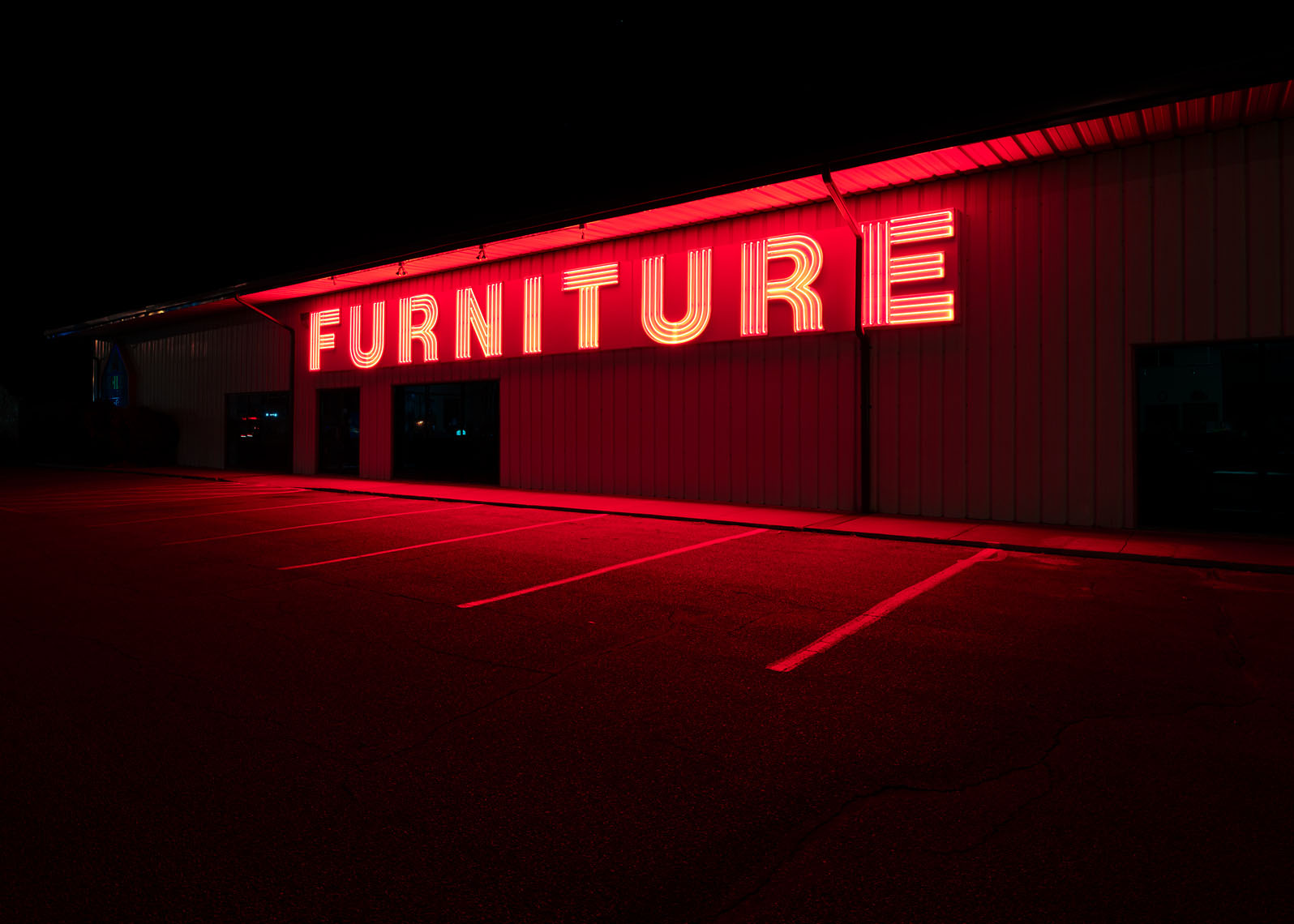 Furniture store sign South Dakota landscape