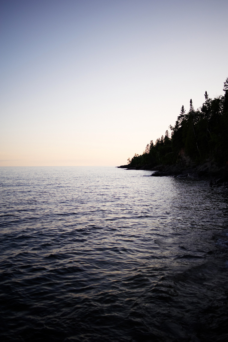 Lake Superior North Shore at dusk landscape