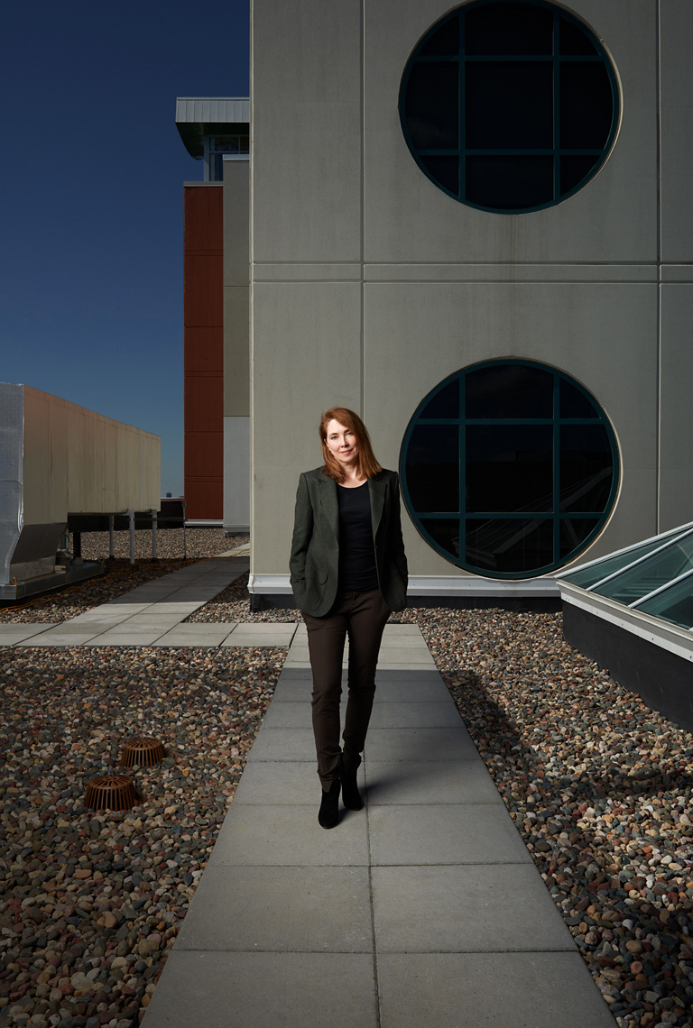 Kiran Stordalen on the hospital roof corporate portrait