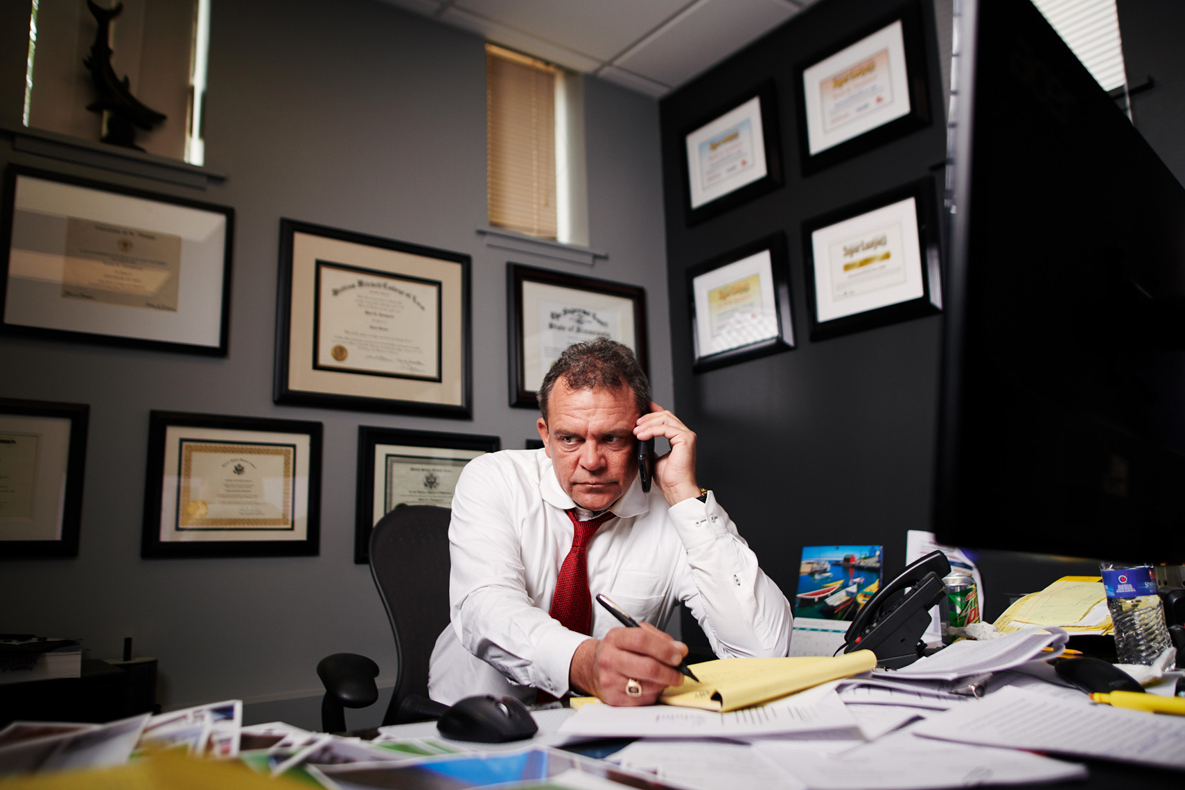 portrait of a lawyer at work in his office