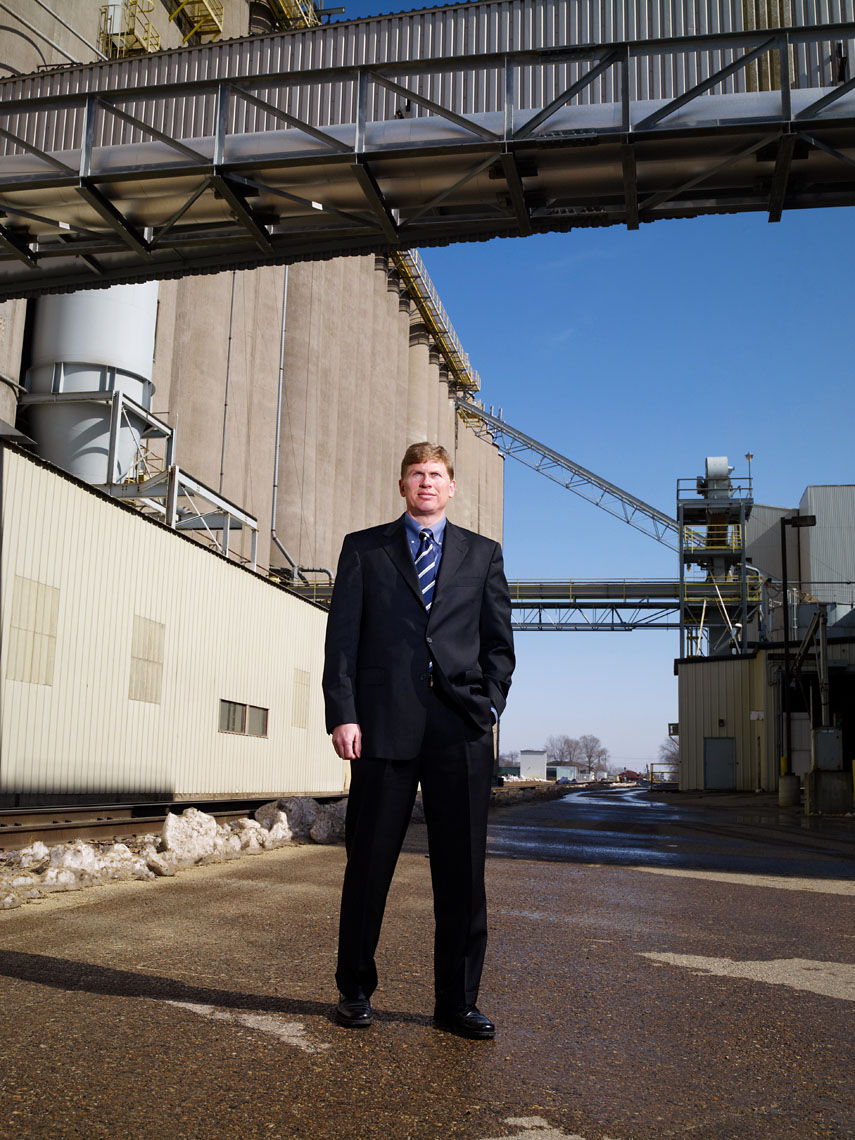 Jeff Taylor outside Rahr Malting Corporate Portrait
