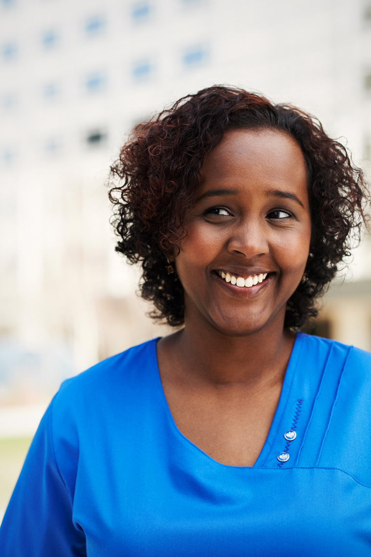 Somali nurse at Mayo clinic corporate portrait