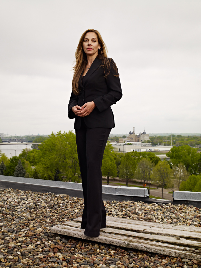 Lawyer on rooftop northeast minneapolis portrait