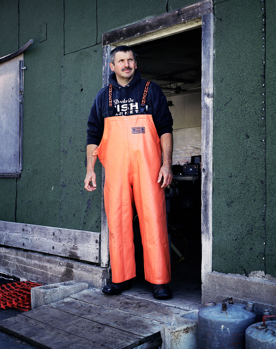 Commercial fisherman Harley Tofte industrial portrait