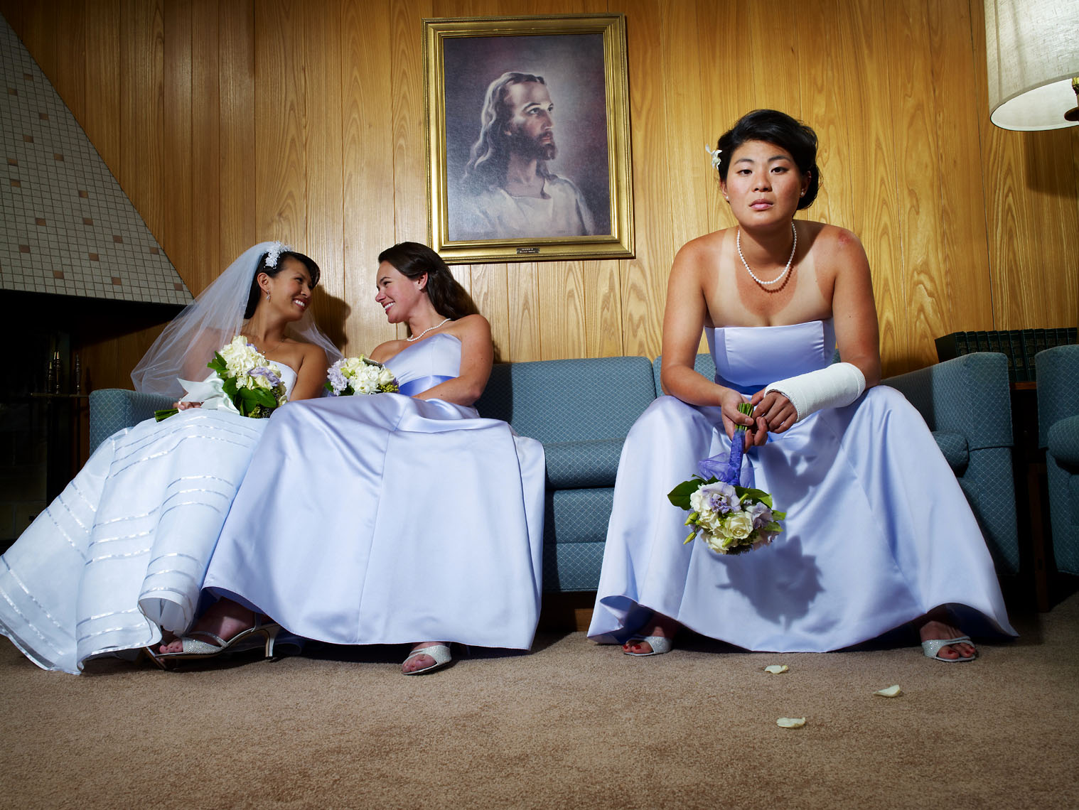 bridesmaid with tan lines and cast laments lifestyle
